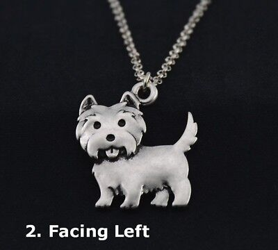 WESTIE NECKLACE Facing LEFT, NEW Without Tags