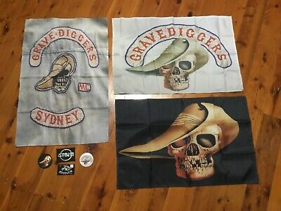 man cave flag AUSSIE CULT CLASSIC sandy and Zonk's cuts wall hanging Biker movie