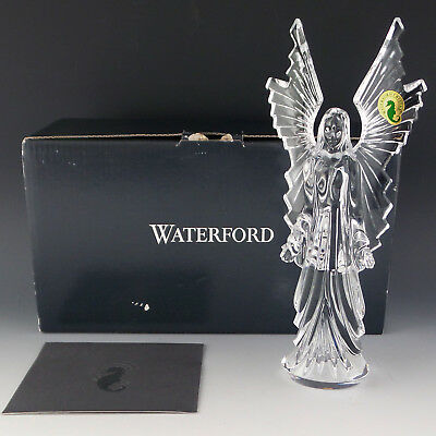 """Waterford Crystal ANGEL of Light New In Box 8 1/2"""" Figurine Sculpture Discontinu"""