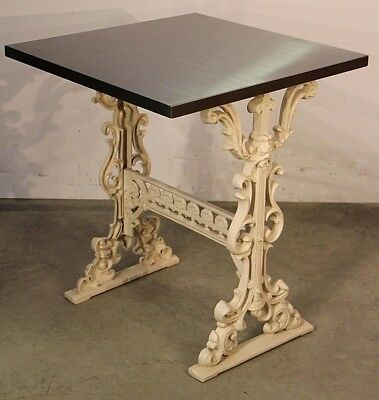 Provincial Bistro table stainless steel courtyard dining table antique ornate