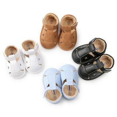 Summer Toddler Baby Soft Crib Sole Leather Shoes Casual Prewalker Sandals 0-18M