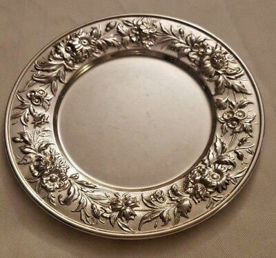 "Repousse by Kirk Sterling Silver Bread and Butter Plate 1/4"" X 6"" #127"