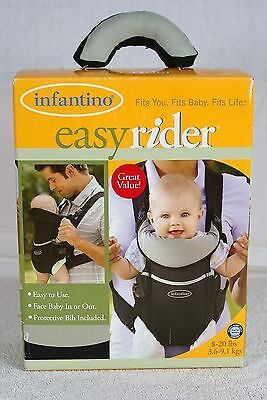 9ff64d96a06 INFANTINO EASY RIDER Black Green Baby Carrier Pouch 8-20 Lbs ...