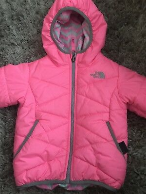 1f55552bba THE NORTH FACE Reversible Perrito Jacket Toddler Girls Gem Pink 2T ...