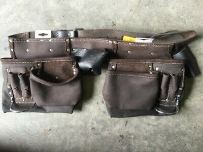 TOOL belt real leather workmans TOOL holder full grain leather AUstock HOLDtools