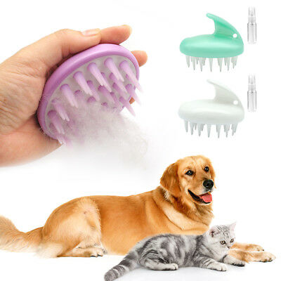 Soft Rubber Cat Dog Comb Dog Grooming Pet Hair Remove Brush Dog Massage Tool