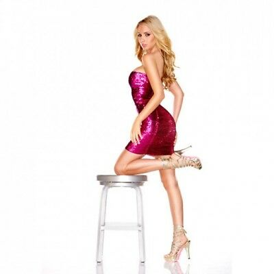Tubino In Paillettes Hot Pink M