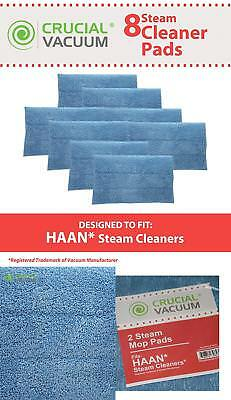 8 Replacements For Haan Microfiber Steam Pads Fit Haan Steam Mops & Floor