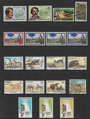 BOTSWANA mixed collection No.1, incl Animals Livingstone Christmas, mint & used