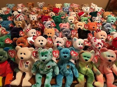 Ty Beanie babies ALL BEARS HUGE LOT of 80 PERFECT all are MWMT   tag  protected a7191cfb8c5