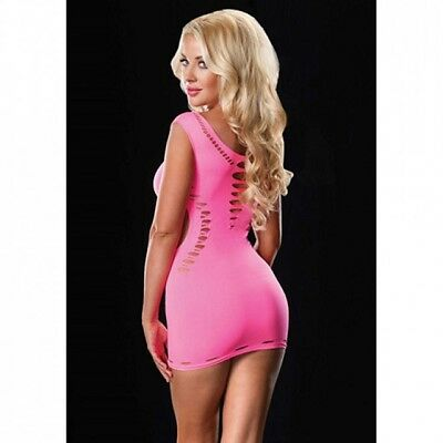 Abito Seamless Cut Out Neon Pink Unica