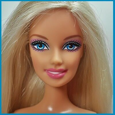Nude Barbie Generation Girl HM Belly Button Body Silky Blonde Hair & Blue Eyes