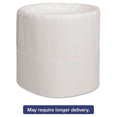 Royal Pleated Chef's Hats, Paper, White, Adjustable, 7 in. Tall,  072288107092