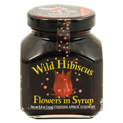 Wild Hibiscus Flowers in Syrup 8.8oz / 250g