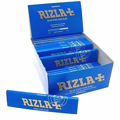 Rizla Blue King Size Slim Regular Cigarette Rolling Paper - 1,5,10,25,50,100