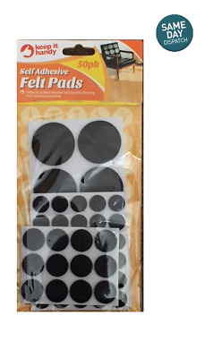 50PK SELF ADHESIVE FELT PADS WOODEN LAMINATED FLOORS PROTECTION FURNITURE PADS