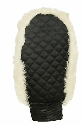 HKM Real Lambswool Grooming Glove. lambswool One Sided