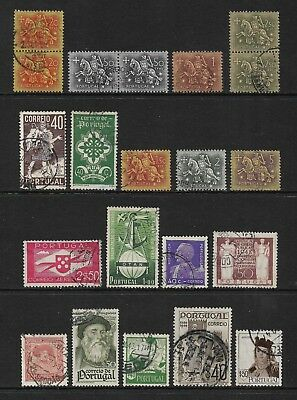 PORTUGAL mixed collection No.26, incl joined pairs, used