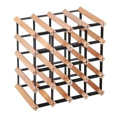 20 Bottle Timber Wine Rack Wooden Storage Cellar Vintry Organiser Stand @AA