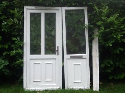 Upvc Front Door And Side Panel With Frame 4100 Picclick Uk