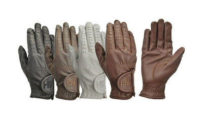 Hy5 Children's Leather Riding Gloves - Equestrian Horse Riding - Various Colours