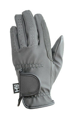 Hy5 Synthetic Leather Riding Gloves Black/Brown Various Size PR-3055