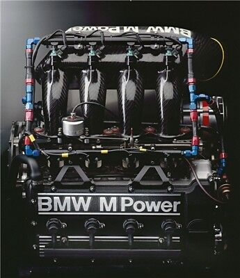 BMW M-Power M3 E30 M Motorsport Engine Large poster  28''x24''inches 01