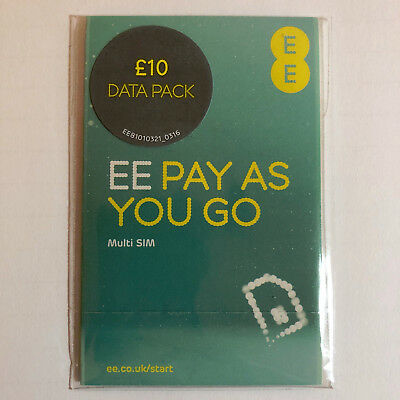 6 x  EE Pack Pay As You Go Sim - Consecutive Phone Numbers