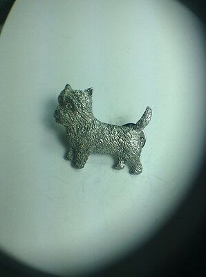Cain Terrier Dog Pin Made Of Fine Pewter