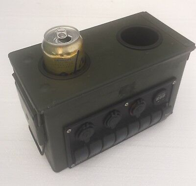 Military  Humvee Cup Holder / Center Console  Control Panel M998 Hmmwv Ammo Can