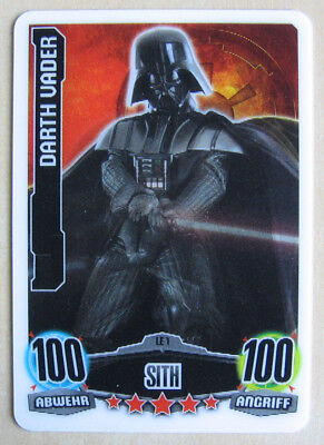 Star Wars Force Attax Serie 1 Movie  LE1 Darth Vader 100/100  3D-Karte 3D  Topps