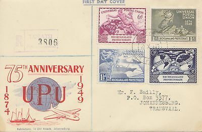 Bechuanaland: 1949 Registered UPU Anniversary to Johannesburg/Transvaal - FDC