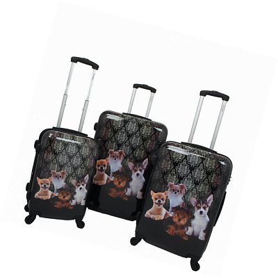 a2fb0cedecf1 CHARIOT 3 PIECE Hardside Lightweight Upright Spinner Luggage Set ...