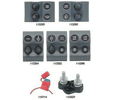 BEP Micro Modular Switch Panels - 2 x On/off toggle switch Colour: Black Labe...