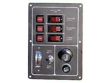 NEW Switch Panel - Black Alloy from Blue Bottle Marine