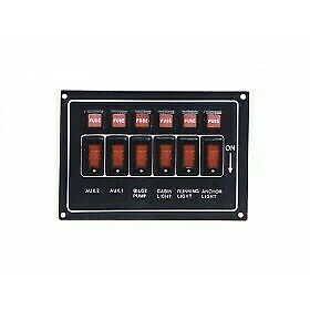 NEW Marine Town Switch Panel - Black Alloy from Blue Bottle Marine