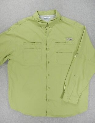 7e60ef83 Columbia PFG Breathable Vented Long Sleeve Fishing Shirt (Mens XXL) Green