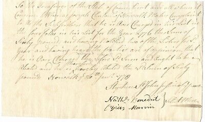 1776 Norwalk, Connecticut - The Year of Our Independence - Signed Document