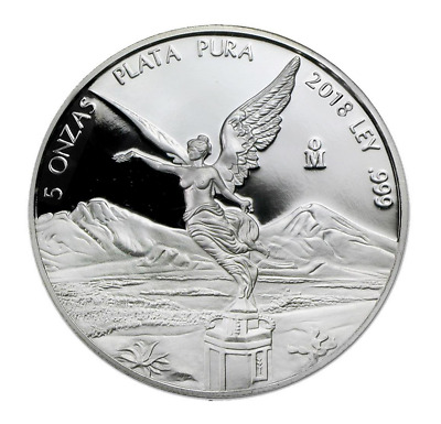 Libertad Onza 5 OZ 2018 Silber Silver PP Proof Argent Mexiko Mexico Mexique