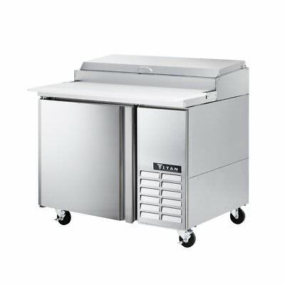 Titan TIPZ44 Pizza Prep Tables 1 Door 44 inch