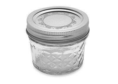 Ball Crystal Quilted Mason Jars 4 Oz Set Of 12, Glass Canning Jars ,jelly Fruit