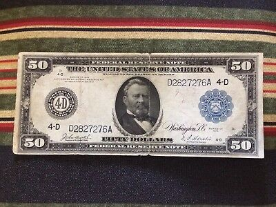 1914 $50 Federal Reserve Note Ohio District