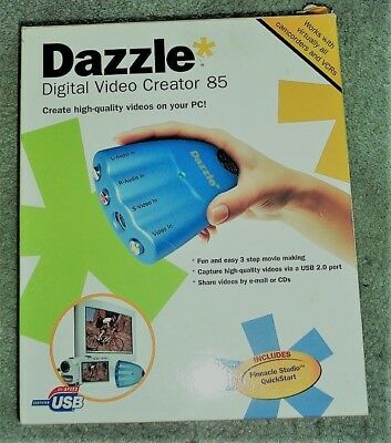 Dazzle Digital Video Creator 85 (USB - DVC-85) Pinnacle Studio 8 New Open Box