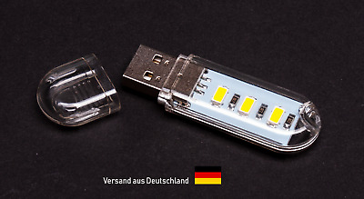 💡 USB LED Stick Lampe Laptop Powerbank USB Licht warm-weiß 💡