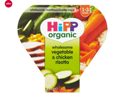 HiPP Organic Wholesome Vegetable & Chicken Risotto 1-3 Years 230g UK 1st Class