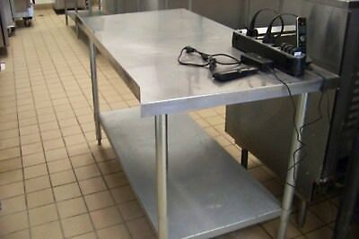 "Stainless Steel Table 72""x30"""