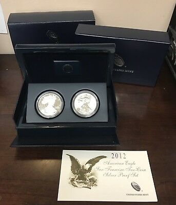 2012-S American Eagle San Francisco Two-Coin Silver Proof Set with OGP & COA