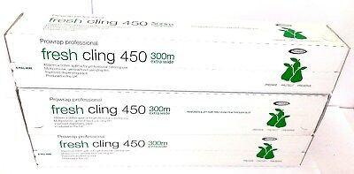 Prowrap Professional 450mm x 300m Catering Cling Film In Cutter Box 3 Pack