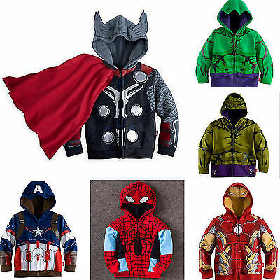 Superhero Costume Toddler Kids Boys Girls Hoodies Sweatshirt Coat Tops T-Shirt