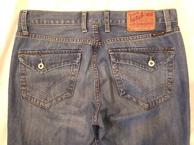 4f65b8df LUCKY BRAND Jeans Men's Flap Pocket Straight Jeans 36X32 Very Nice ...